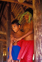 Two young boys from Ma village, Yap Micronesia