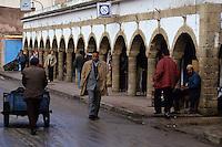 Essaouira, Morocco - Street Scene, Arches, Arcade