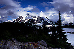 Mount Shuksan, neighbor of Mt. Baker, seen from Artist's Point in Mt. Baker Snoqualmie Natinal Forest