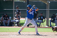 Kansas City Royals third baseman Jose Marquez (6) at bat during an Instructional League game against the Chicago White Sox at Camelback Ranch on September 25, 2018 in Glendale, Arizona. (Zachary Lucy/Four Seam Images)