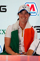 6th September 2021: Toledo, Ohio, USA;  Leona Maguire of Team Europe attends a press conference after Team Europe retained the Solheim Cup during the Solheim Cup on September 6, 2021 at Inverness Club in Toledo, Ohio.