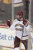 Kevin Hayes (BC - 12) - The Boston College Eagles defeated the visiting University of Wisconsin Badgers 9-2 on Friday, October 18, 2013, at Kelley Rink in Conte Forum in Chestnut Hill, Massachusetts.