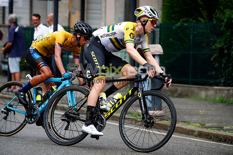 Varese  Italy - wielrennen - cycling - cyclisme - radsport - Cameron Meyer (AUS - Mitchelton - Scott) - Jesus Davis Pena Jiminez (Colombia) pictured during Gran Trittico Lombardo 2020 from Legnano to Varese (199.7KM) - photo LB/RB/Cor Vos © 2020 - UK EDITORIAL USE ONLY - MANDATORY BYLINE/PHOTO CREDIT LB/RB/CorVos/SWpix.com