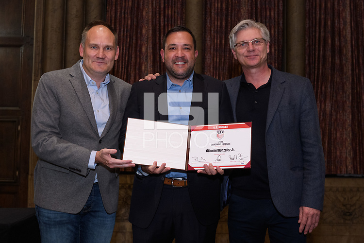 Chicago, IL - December 14, 2018: The U.S. Soccer Pro Course License Ceremony is held at the InterContinental Chicago Magnificent Mile.