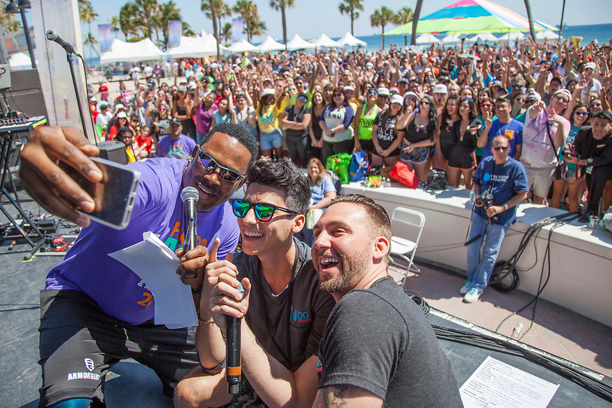 Thousands of participants come out to Fort Lauderdale Beach, to walk in the 12th Annual Florida AIDS Walk & Concert presented by AIDS Healthcare Foundation and Wells Fargo, which raised over $1.4 million to support local HIV/AIDS services in the local community on Sunday, March 19, 2017, in Fort Lauderdale, Fla. (Photo by Jesus Aranguren/Invision for AIDS Healthcare Foundation/AP Images)