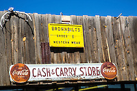 Cash and Carry Shop Sign at Soccoro, New Mexico