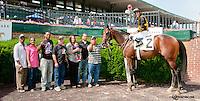 Tuscan Getaway winning at Delaware Park on 6/22/13