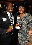 Deshun Baker and Kelly A. Sargeant at the World Energy Cities Partnership reception at the Hotel ZaZa Tuesday May 1,2012. (Dave Rossman Photo)