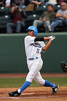 February 21 2009: Tyler Rahmatulla of the UCLA Bruins during game against the UC Davis Aggies at Jackie Robinson Stadium in Los Angeles,CA.  Photo by Larry Goren/Four Seam Images