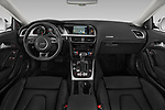 Stock photo of straight dashboard view of 2014 Audi A5 Premium Quattro 2 Door Coupe
