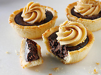 Chocolate tarts. Food Photos