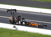 Aug 9, 2020; Clermont, Indiana, USA; NHRA top fuel driver Terry Totten during the Indy Nationals at Lucas Oil Raceway. Mandatory Credit: Mark J. Rebilas-USA TODAY Sports