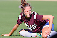 Texas A&M midfielder Janae Cousineau (11) warms up before NCAA soccer game, Sunday, October 26, 2014 in College Station, Tex. South Carolina draw 2-2 against Texas A&M in double overtime. (Mo Khursheed/TFV Media via AP Images)