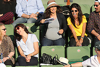 Nolwenn Leroy and Reem Kherici seen watching tennis during Roland Garros tennis open 2016 on may 27 2016.