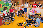 Calgary, AB - June 5 2014 - Celebration of Excellence Heroes Tour visit Ronald McDonald House in Calgary. (Photo: Matthew Murnaghan/Canadian Paralympic Committee)