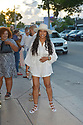 MIAMI, FL - JULY 16: Garcelle Beauvais and Tazz (L) are seen arriving at Kiki on the River Restaurant on July 16, 2021 in Miami, Florida.(Photo by Vallery Jean / jlnphotography.com )