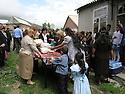Armenia 2007 <br /> A Yezidi wedding in a village, the presentation of the gifts <br /> Armenie 2007 <br /> Mariage yezidi dans un village, presentation du trousseau de la mariée