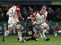 Friday 7th December 2012;  Tom Court in action for Ulster during the Pool 4 round 3 Heineken Cup clash at Franklin's Gardens, Northampton, England. Image credit -: JOHN DICKSON / DICKSONDIGITAL