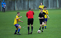 Action from the traditional Wellington 1st XI secondary schools football match between Rongotai College and Wellington College at Rongotai College in Wellington, New Zealand on Saturday, 19 August 2020. Photo: Dave Lintott / lintottphoto.co.nz
