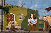 Murales in Villamar, Provinz Medio-Campidano, Inner - Sardinien, Italien