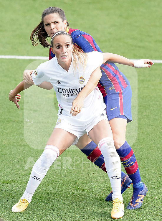 First official match and first classic in the history of women's Real Madrid.<br /> Real Madrid's Kosovare Asllani (l) and FC Barcelona's Andrea Pereira during Spanish Female League match. October 4,2020. (ALTERPHOTOS/Acero)