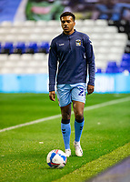 2nd October 2020; St Andrews Stadium, Coventry, West Midlands, England; English Football League Championship Football, Coventry City v AFC Bournemouth; Sam McCallum of Coventry City with the ball at his feet during the warm up