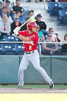 Gunnar Heidt (2) of the Vancouver Canadians at bat during a game against the Everett Aquasox at Everett Memorial Stadium in Everett, Washington on July 27, 2015.  Everett defeated Vancouver 6-0. (Ronnie Allen/Four Seam Images)