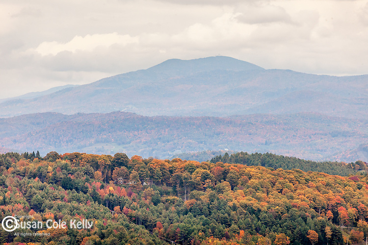 View of the Killkenny Range from the Northeast Kingdom of Vermont. East Ryegate, VT, USA