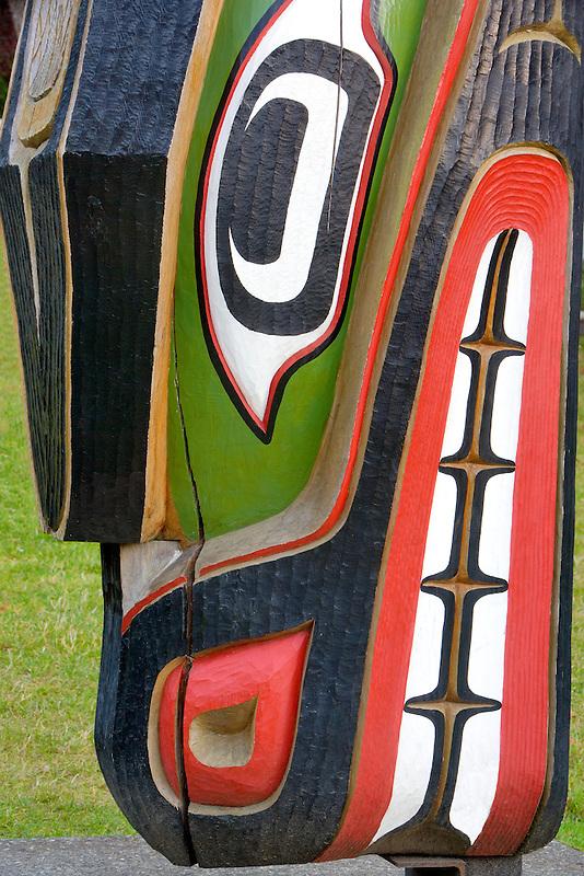 Native Indian totem carvings. Royal British Columbia Museum. Victoria, B.C.