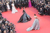 li yuchun araya a hargate sur le tapis rouge pour le film le bon gros geant de steven spileberg projete en avant premiere lors du soixante neuvieme festival du film a cannes le samedi 14 mai 2016