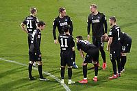 Karlsruher SC vor dem Spiel<br /> <br /> - 26.02.2021 Fussball 2. Bundesliga, Saison 20/21, Spieltag 23, SV Darmstadt 98 - Karlsruher SC, Stadion am Boellenfalltor, emonline, emspor, <br /> <br /> Foto: Marc Schueler/Sportpics.de<br /> Nur für journalistische Zwecke. Only for editorial use. (DFL/DFB REGULATIONS PROHIBIT ANY USE OF PHOTOGRAPHS as IMAGE SEQUENCES and/or QUASI-VIDEO)