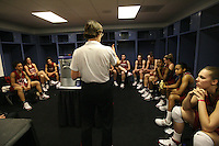 5 April 2008: Stanford Cardinal (not in order) head coach Tara VanDerveer, Melanie Murphy, Jayne Appel, Michelle Harrison, JJ Hones, Candice Wiggins, Cissy Pierce, Kayla Pedersen, Hannah Donaghe, Rosalyn Gold-Onwude, Jeanette Pohlen, Ashley Cimino, Morgan Clyburn, and Jillian Harmon during Stanford's 2008 NCAA Division I Women's Basketball Final Four open practice at the St. Pete Times Forum Arena in Tampa Bay, FL.