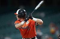 Blake Chisolm (27) of the Sam Houston State Bearkats at bat against the Mississippi State Bulldogs during game eight of the 2018 Shriners Hospitals for Children College Classic at Minute Maid Park on March 3, 2018 in Houston, Texas. The Bulldogs defeated the Bearkats 4-1.  (Brian Westerholt/Four Seam Images)