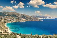 The beach Agia Kyriaki in Kefalonia island, Greece