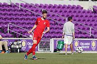 Orlando, Florida - Wednesday January 17, 2018: Sam Gainford. Match Day 3 of the 2018 adidas MLS Player Combine was held Orlando City Stadium.