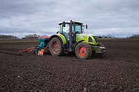 5-3-2021 Drilling Spring Barley in Lincolnshire <br />  ©Tim Scrivener Photographer 07850 303986<br />      ....Covering Agriculture In The UK....