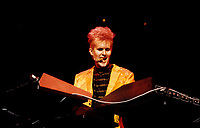 November 22, 1985  File Photo -<br /> <br /> Howard Jones in concert at the Forum, Montreal.<br /> <br /> Howard Jones (born John Howard Jones, 23 February 1955) is an English singer and songwriter who gained acclaim in the 1980s.<br /> <br /> NOTE : More images in black and white are available