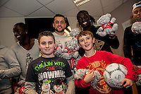 Tuesday  15 December 2015<br /> Pictured: Eder, Lukasz Fabianski and Bafetimbi Gomis<br /> Re: Kids SCFC Christmas Party at the Liberty Stadium, Swansea