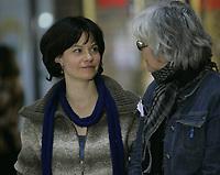 Montreal (Qc) CANADA - Mar 15 2010  - SHOOTING of en terrains connus<br /> , directed by  Stéphane Lafleur. : Fanny Malette