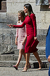 Princess Sofia of Spain and Queen Letizia of Spain visit Covadonga, Spain. September 08, 2018. (ALTERPHOTOS/A. Perez Meca)