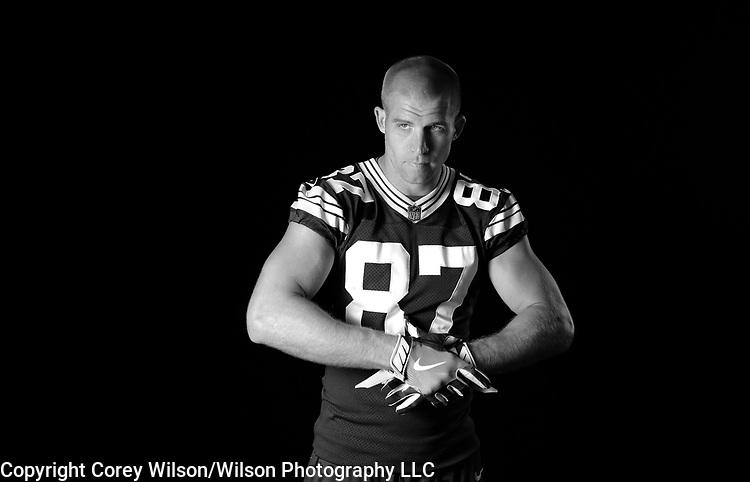 Jordy Nelson - Green Bay Packers photo shoot for CBS at Lambeau Field in Green Bay, Wis., on July 31, 2017.