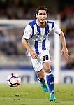 Real Sociedad's Joseba Zaldua during La Liga match. August 21,2016. (ALTERPHOTOS/Acero)