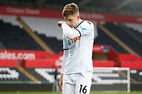 Sunday 18 March 2018<br /> Pictured:  Keston Davies of Swansea City<br /> Re: Swansea City v Manchester United U23s in the Premier League 2 at The Liberty Stadium on March 18, 2018 in Swansea, Wales.