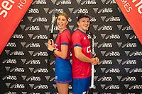Olivia Merry and Sam lane. Hockey Premier League Official Launch, Auckland Grammar Hockey Turf, Auckland, New Zealand. Photo: Simon Watts/www.bwmedia.co.nz/HockeyNZ