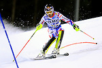 Alexis Pinturault competes during the FIS Alpine Ski World Cup Men's Slalom in Madonna di Campiglio, on December 22, 2015.