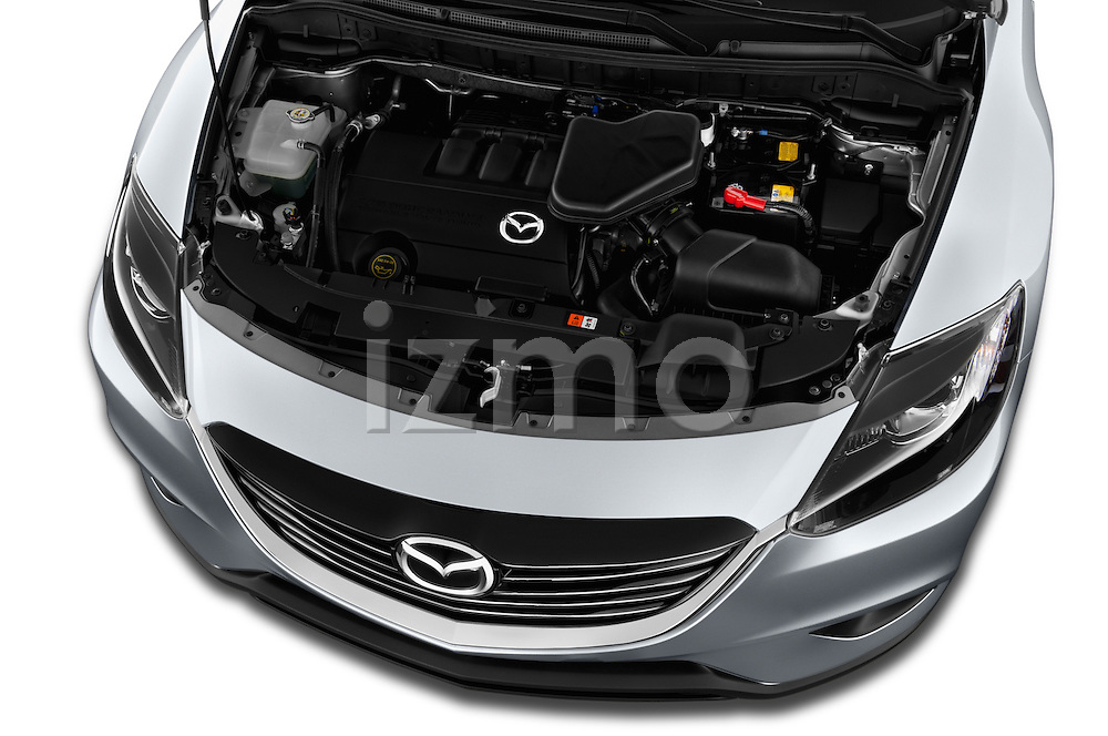High angle engine detail of a  .2013 Mazda CX9