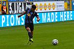 Waldhofs Marcel Costly (Nr.17) beim Schuss beim Spiel in der 3. Liga, SV Waldhof Mannheim - FC Ingolstadt.<br /> <br /> Foto © PIX-Sportfotos *** Foto ist honorarpflichtig! *** Auf Anfrage in hoeherer Qualitaet/Aufloesung. Belegexemplar erbeten. Veroeffentlichung ausschliesslich fuer journalistisch-publizistische Zwecke. For editorial use only. DFL regulations prohibit any use of photographs as image sequences and/or quasi-video.