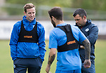St Johnstone Training…16.05.17<br />Steven MacLean talks with Richie Foster and Callum Davidson during training this morning ahead of tomorrows game against Hearts.<br />Picture by Graeme Hart.<br />Copyright Perthshire Picture Agency<br />Tel: 01738 623350  Mobile: 07990 594431