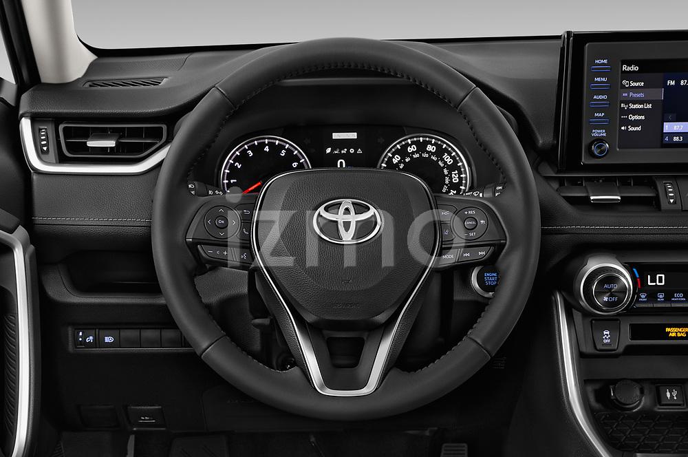 Car pictures of steering wheel view of a 2019 Toyota RAV4 XLE Premium 5 Door SUV