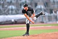 Northern Division pitcher Alec Hansen (30) of the Kannapolis Intimidators delivers a pitch during the South Atlantic League All Star Game at Spirit Communications Park on June 20, 2017 in Columbia, South Carolina. The game ended in a tie 3-3 after seven innings. (Tony Farlow/Four Seam Images)